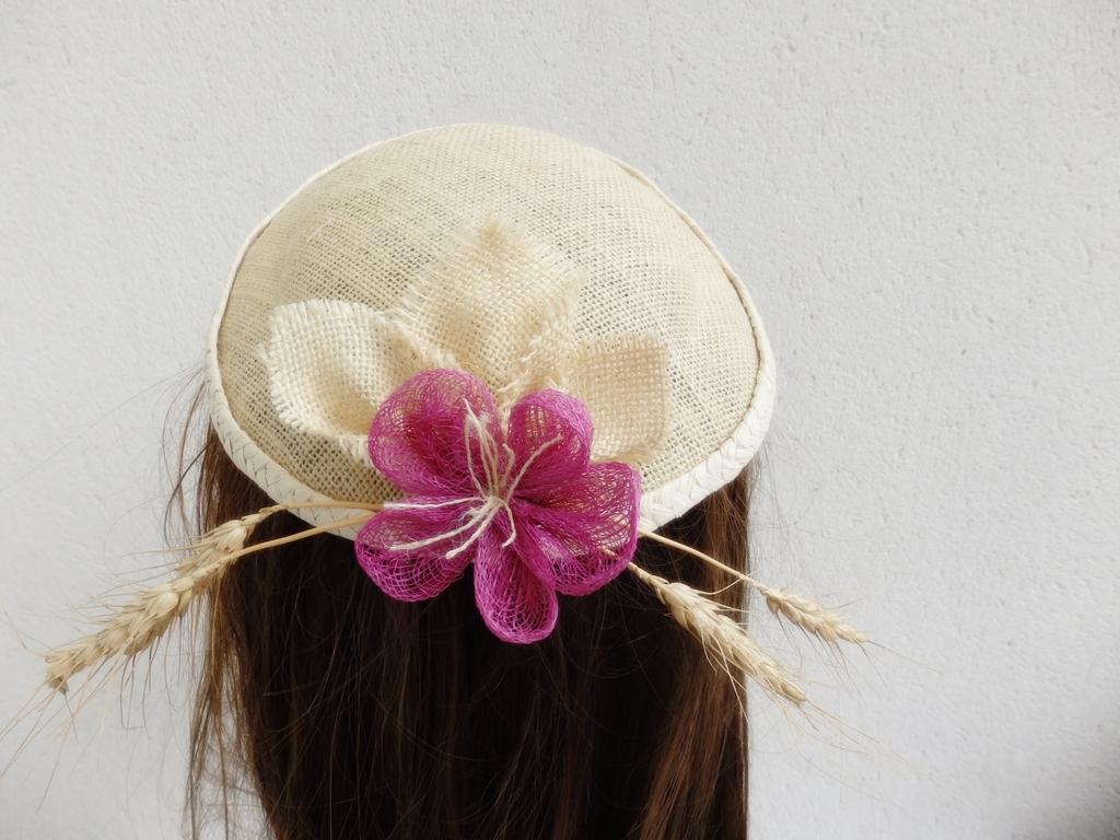 bibi sisal chapeau mariage blé