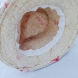 intérieur du trilby valentin gros grain blanc