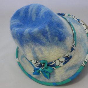 trilby tahaiti en laine feutré lagon vue de dessus